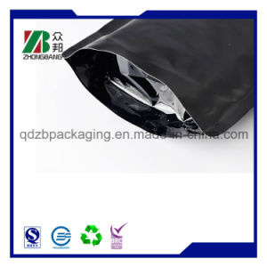 Matt Black Plastic Aluminum Foil Coffee Packaging Bag with Valve pictures & photos