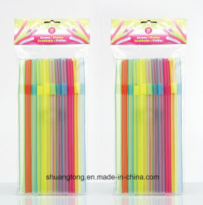 25PCS Jumber Big Plastic Drinking Straw (70092) pictures & photos