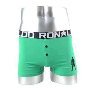Men′s Boxer Shorts, 100%Cotton, Logo and Color Are Available