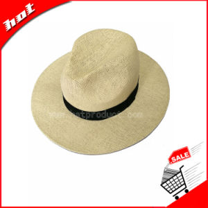 Woven Paper Straw Panama Cowboy Fedora Hat pictures & photos
