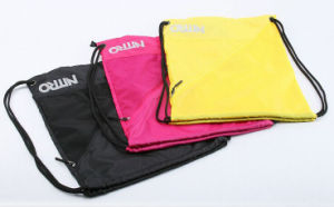 Fashionable Durable Waterproof Nylon Sling Drawstring Backpack Bag (MS9054) pictures & photos