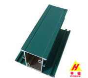 Green Powder Coated Aluminum Profile