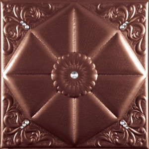 China Suoya 1094-18 Fireproof Decorative Leather 3D Wall Panel pictures & photos