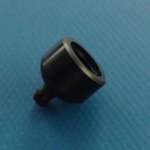 High Precision CNC Machining Delrin (POM) Black Parts with Speedy Delivery (6.97*7.47mm)