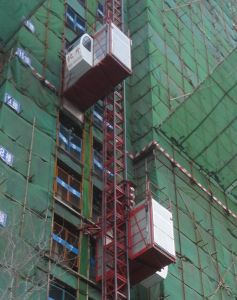 Sc Series Construction Passenger and Material Hoist with Frequency Inverter pictures & photos