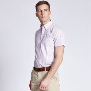 Low Price Business Dress Men Shirt Short Sleeve Casual Men Shirt for Sale pictures & photos