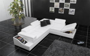 European Modern L Shape Function Sofa Sectional Leather Sofa (HC1070) pictures & photos