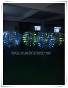 Gorgeous Green&Blue Colorful Glow Bubble Football From Guangzhou Manufacturer pictures & photos