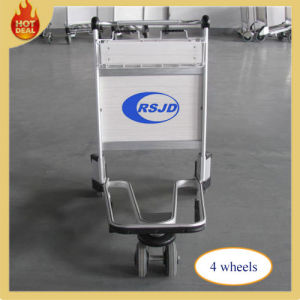 4 Wheels Aluminum Alloy Hand Brake Airport Trolley (LG8) pictures & photos