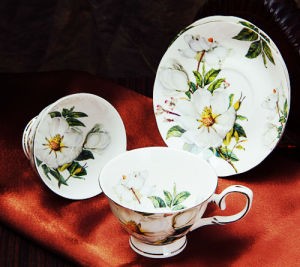 Beautiful Ceramic Coffee Cup& Saucer Porcelain Cup Bone China Cup pictures & photos