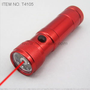 8 LED Flashlight With Laser Pointer (T4105) pictures & photos