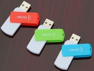 Swivel USB Flash Memory Free Samples Customer Printed Logo 2GB/4G/8g USB Flash Drive (C-07)