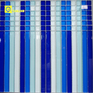 New Glazed 3mm Thickness Glass Mosaic Tile for Floor (MX010) pictures & photos