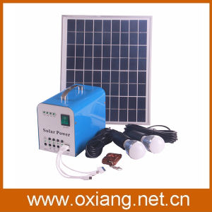 Hot Selling 20W Solar Panel Solar Home Lighting Generator System pictures & photos