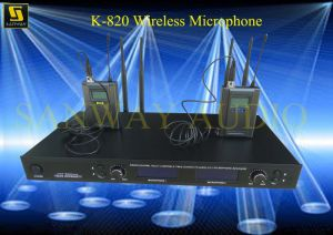 2CH Lapel Microphone, Headset Wireless Microphone (K-820) pictures & photos