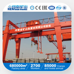 Rail Mounted 10ton 50ton Double Girder Gantry Crane pictures & photos