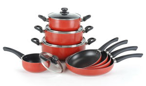 12PCS Pressed Aluminum Non-Stick Cookware Set