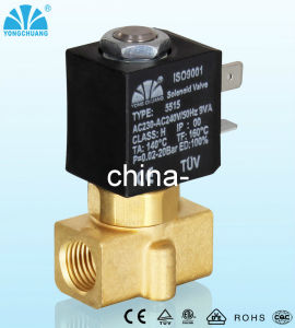 Latching Small RoHS Appoved Brass Solenoid Valve