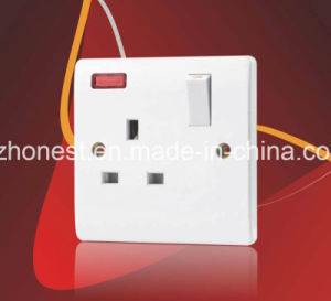 New Style 45A 1 Gang Double Pole BS Wall Switch Witch Neon pictures & photos