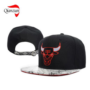 Bufflo Embroidery Fitted Flat Brim Baseball Hats pictures & photos
