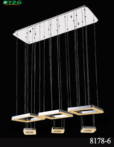 Modern Home Lighting Crystal Chandelier Light/Pendant Lighting Byzg 8178-6
