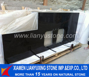 China prefabricated black pearl granite vanity top and countertops for kitchen bathroom china for Premade granite bathroom vanity tops