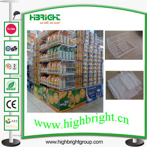 Cash and Carry Supermarket Wire Stacking Basket with Beveled Edge pictures & photos