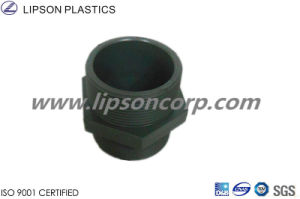 PVC Pipe Fittings Bs Standard Double Thread Nipple pictures & photos