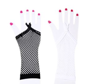Mesh Long Gloves Sexy Lightbar Hanging Hand Gloves (GL003) pictures & photos