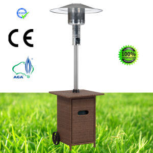 Cuboid Wicker Outdoor Glass Tube Pyramid Gas Patio Heater pictures & photos