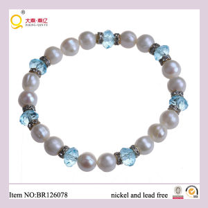 Classic 8-9mm Freshwater Pearl and Crystal Bracelet, Fashion Bracelert as Mother′s Day Gift pictures & photos