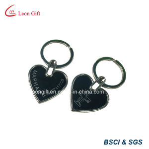 Wholesale Gold Metal Epoxy Heart Shape Keychain for Sale pictures & photos