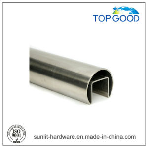Topgood Stainless Steel Oval Channel Tube/Slot Tube for Stair (51000) pictures & photos