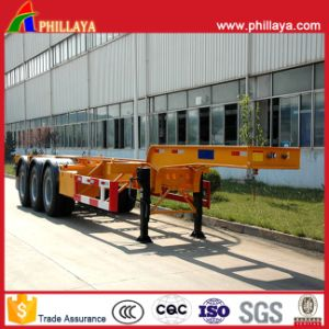 3 Axles 20FT 40FT Container Transport Steel Skeleton Truck Semi Trailer Chassis pictures & photos