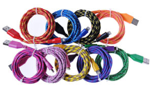 for iPhone 6 Braided USB Cable Cords Charger pictures & photos