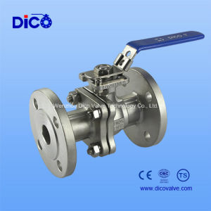 2PC Flanged Stainless Steel Ball Valve with Locked Handle pictures & photos