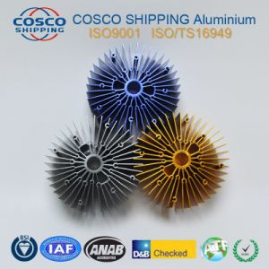 Competitive Aluminum Profile Extrusion for Heatsink with Clear Anodizing&CNC Machining pictures & photos