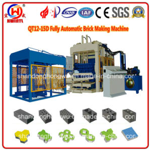 Qt12-15D Fully Automatic Concrete Block, Paver & Curbstone Production Line