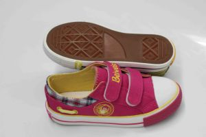 Hot Sell Children Canvas Shoes with Rubber Outsole (SNK-02083) pictures & photos