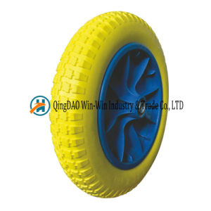 Solid Polyurethane Foam Wheel for Barrow Wheels (13*3/3.00-8) pictures & photos