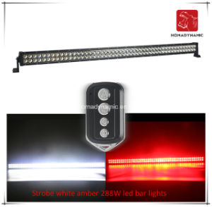 LED Car Light of Strobe White Amber 288W LED Light Bar for SUV Car LED off Road Light and LED Driving Light pictures & photos