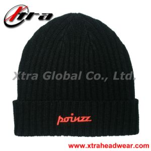 Black Beanie Hat (XT-W016) pictures & photos