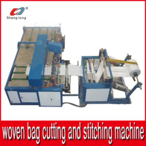 Automatic Cutting and Stitching Machine for PP Woven Bag Fabric Roll Bottom pictures & photos