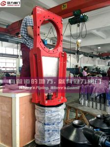 Kgd Heavy Duty Cinder Mining Machine Slurry Knife Gate Valve pictures & photos