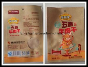 Food Packaging Kraft Paper Bag with Window pictures & photos