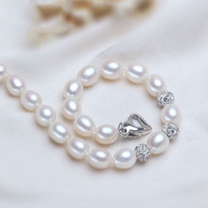 Fashion Freshwater Pearl Bracelet AAA 7-8mm Drop Water Pearl Bracelet for Women pictures & photos