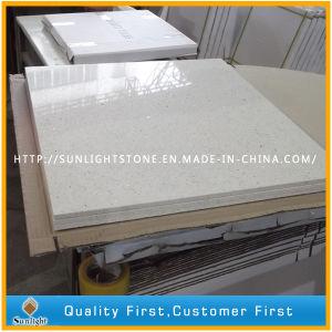 White Sparkle Artificial Stone Quartz Quartzite Bathroom/Kitchen Wall Tiles pictures & photos