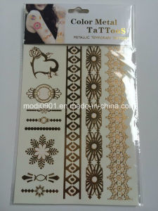 Wholesale Art Body Sticker Tattoo Waterproof Tattoo Metallic Temporary Tattoo pictures & photos