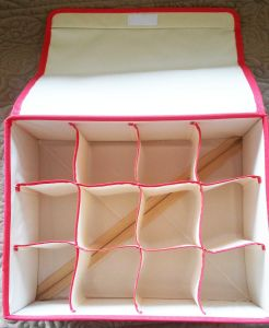 Household Canvas Foldable Storage Box pictures & photos