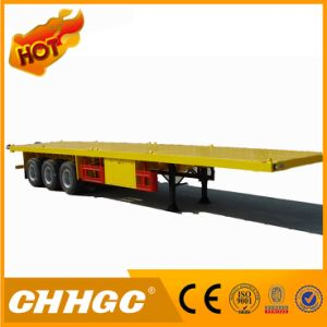 China Manufacturer 2 Axle Container Flatbed Semi Trailer for Sale pictures & photos